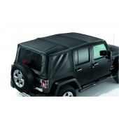 CAPOTE SOUPLE SUNRIDER JEEP WRANGLER UNLIMITED (VINYLE NOIR)