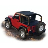 KIT COMBO SUNBONNET-TONNEAU COVER-WINDSCREEN JEEP WRANGLER