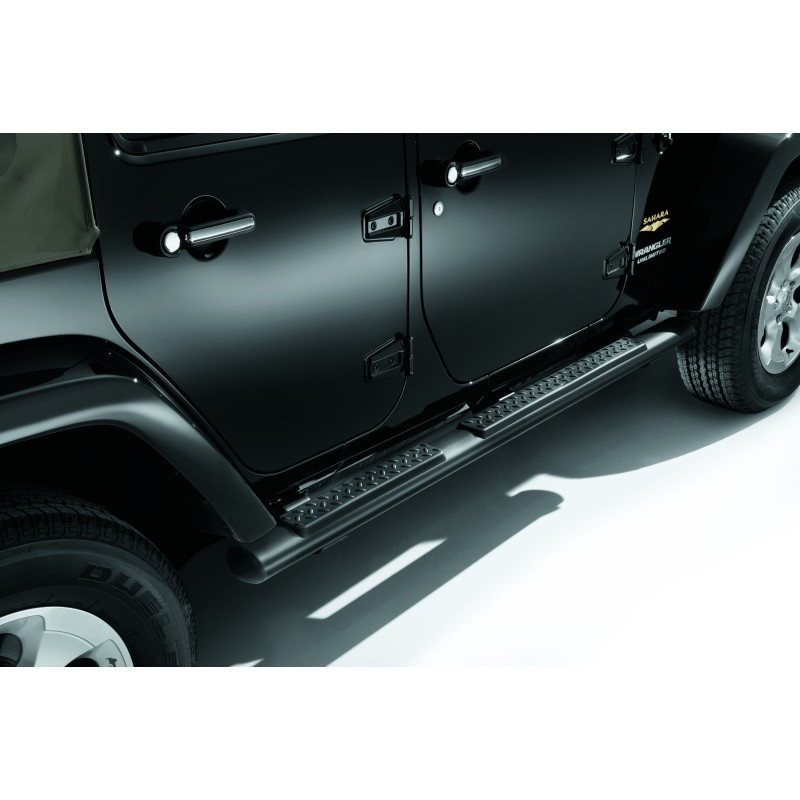 marche pieds tubulaires jeep wrangler unlimited noir mat. Black Bedroom Furniture Sets. Home Design Ideas