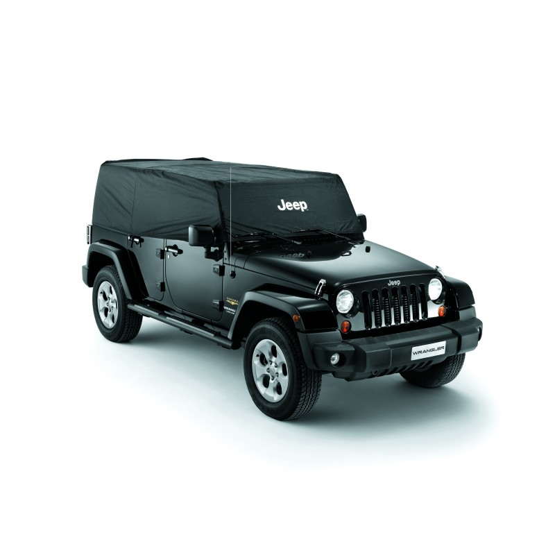 housse de protection partielle jeep wrangler unlimited noir. Black Bedroom Furniture Sets. Home Design Ideas