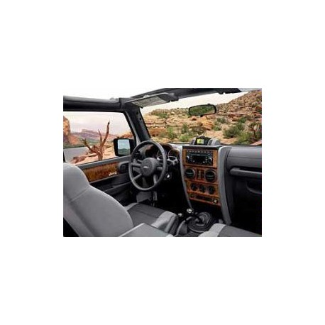 console centrale dark bird 39 s eye maple jeep wrangler 4. Black Bedroom Furniture Sets. Home Design Ideas